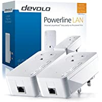 devolo dLAN 1200+ Powerline Starter Kit (1200 Mbps, 2 xPowerline Adapters, 1 x Gigabit LAN Port, Powerline Networking, Internet Signal Booster, Ethernet Access Over Power Line) - White