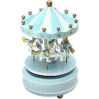 Das Schloss im Himmel Homyl Retro Karussell Spieluhr Musik-Box mit Bunt LED Licht Kinder M/ädchen Spielzeug Weihnachten Geburtstag Hochzeit Geschenk
