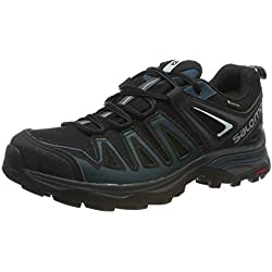 Salomon X Ultra 3 Prime GTX W, Zapatillas de Senderismo para Mujer, Negro/Azul (Black/Reflecting Pond/Icy Morn), 37 1/3 EU