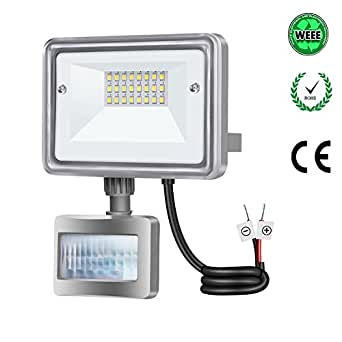 Gosun 10w projecteur led d tecteur de mouvement lumi re for Lumiere exterieur mural