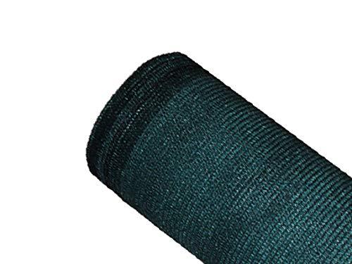 MAILLESTORE Brise-Vue 85% - Vert/Noir - 130g/m² - sans Boutonnières Vert/Noir 1.20m x 10m
