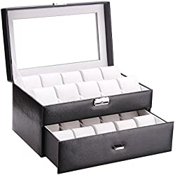Rowling 20slots Watch box jewellery box Watch Bracelet Bangle Box Display Storage Box case