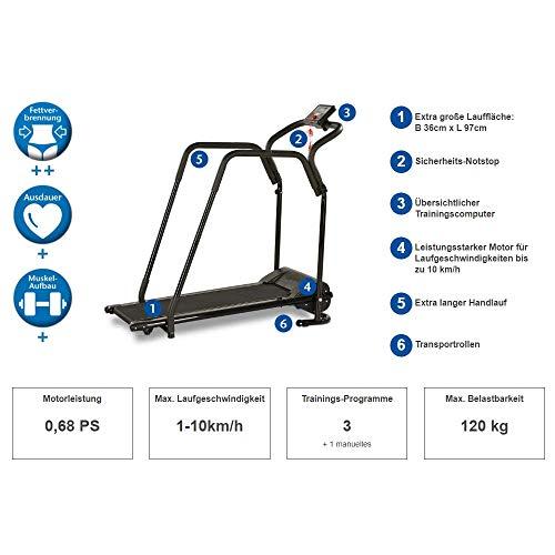 Elektrisches Laufband mit Haltegeländer kaufen  Bild 1*