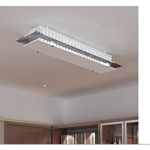 Parete di soffitto di vetro della lampada di forma rettangolare e27 3 Camera bulbo montati a filo del pannello di vetro,1 luce senza globe,una base di rame