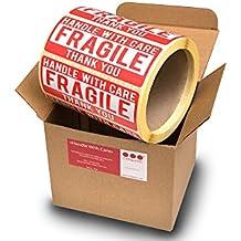 """Cintapunto® Aufkleber Etiketten """"Handel With Care"""" (110 x 40 mm, 500 Stück auf Rolle)"""