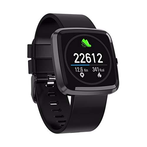 LRWEY Fitness Smart Watch, T2 Männer Frauen Blutsauerstoffsättigung Blutdruck Pulsmesser Sport Smartwatch, FüR iOS Android