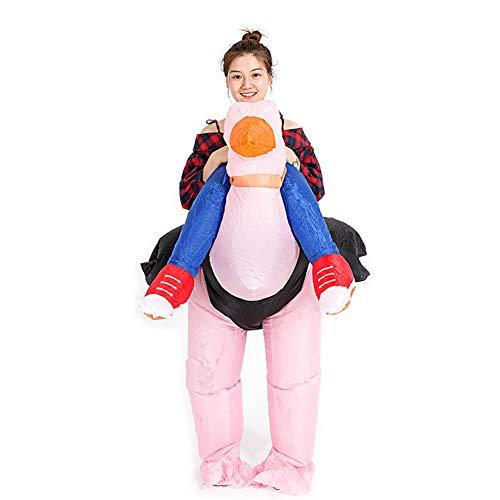 Cosplay Kostüm Strauß Aufblasbar Fahrer Rosa Vogel Tier Schick Komisch Overall Passen Halloween Weihnachten - Aufblasbare Strauß Kostüm