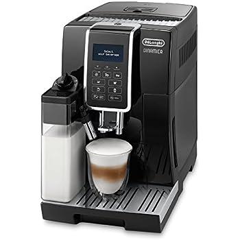 De'Longhi Dinamica ECAM 350.55.B Kaffeevollautomat (1450 Watt, Digitaldisplay, integriertes Milchsystem, Lieblingsgetränke auf Knopfdruck, Herausnehmbare Brühgruppe, 2-Tassen-Funktion) schwarz