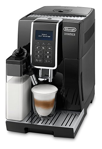 DeLonghi DINAMICA ECAM 350.55.B Freestanding Fully-auto Espresso machine Black - coffee makers (Freestanding, Espresso machine, Coffee beans, Ground coffee, Built-in grinder, 1450 W, Black)