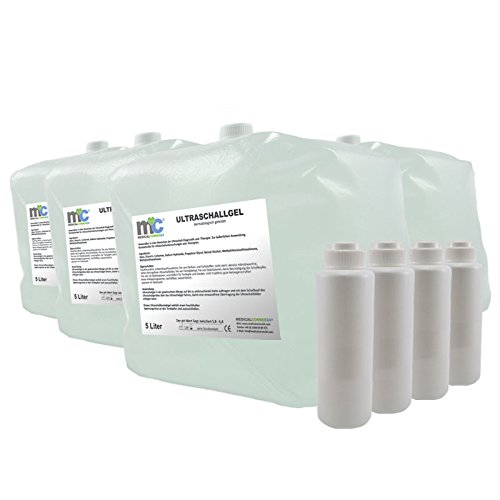 Ultraschall Gel - 20 kg Cubitainer mit Leerflasche, 4x 5kg, Kontaktgel, Leitgel -