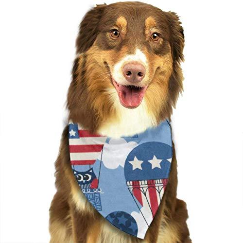 Guan_Collection Halstuch, Halstuch für Hunde, mit Luftballon-Motiv Patriotische Flagge, dreieckig, für Welpen, Lätzchen, Schals, Tierschals, Katzen und Babyschal -