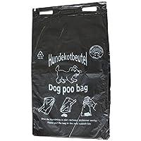 400 Hundekotbeutel Öko Farbe schwarz bedruckt weiß abreissbar 20 x 32 cm