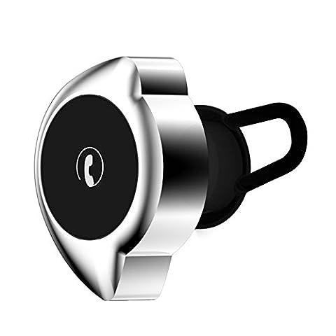 Mini Bluetooth Earphones, Fozela Wireless Sport HD Stereo Bluetooth V4.1 Sweatproof In-Ear Headphones / Earbuds / Earphones / Earpieces Cordless with Microphone for iPhone Samsung LG HTC Motorola iPad(Black