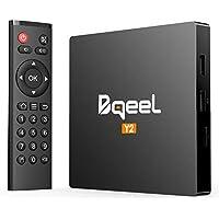 Android 7.1 TV Box-Bqeel Y2 TV Box Quad-Core 2GB RAM & 16GB ROM 64-bit 4Kx2K @ 30fps HDMI 2.4GHz WiFi Smart TV Box