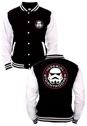 Star Wars Imperial - Stormtrooper Giacca college nero/bianco S