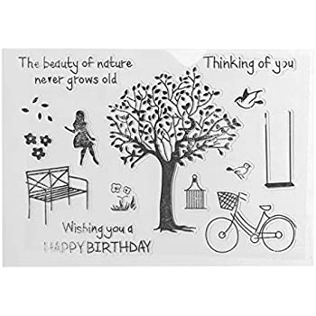 Stempel Clear Stamps transparent Wiffe Silikonstempel Set