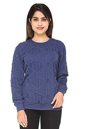 SHAUN Women's Fleece Sweatshirt (Blue, Small)
