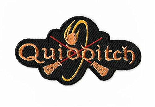 er Quidditch Logo Patch Gestickte Abzeichen Gryffindor Ravenclaw Hufflepuff Sucher Hogwarts Snitch Applique Souvenir Motiv Kostüm (Hufflepuff Quidditch Kostüm)