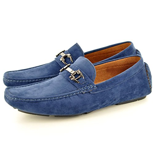 New Mens Mocassini Casual Mocassini Slip On Scarpe Blu Navy