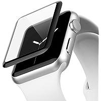 Belkin ScreenForce UltraCurve-Displayschutzfolie (für die Apple Watch der Serie 1, 38 mm, vollflächiger Schutz mit abgerundeten Kanten, echtes Glas, kratzfest) schwarz