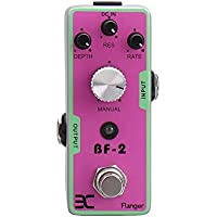 Lwieui Efectos de Guitarra EX TC-41 FLANGER BF-2 Efectos de Guitarra Pedal Bypass Verdadero Metal Shell y Compacto Tam Distorsión y Overdrive (Color : Pink, Size : One Size)