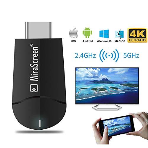 MiraScreen 2.4G / 5G WiFi Display Dongle Adattatore Wireless Ricevitore TV HDMI Supporto 4K HD Risoluzione Miracast Airplay DLNA Mirroring a HDTV/Proiettore