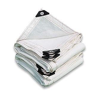 XIAOYAN Weißes Sonnenschirmnetz 8-poliges Schattierungsnetz Schattengewebe verdicken Isolierung und staubdichtes Netz für Carport Roof Balkonabdeckung (Farbe : Weiß, größe : 4x8m)