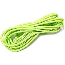 Cablematic - Cable eléctrico decorativo de tela 5m 2x0.75mm de color verde
