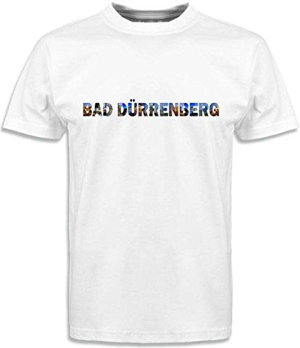T-Shirt mit Städtenamen Dürrenberg Weiß