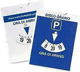 Disco orario europeo maxi auto in parcheggio blu 12x15 con quarto d'ora bicolore