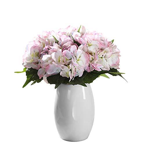 Veryhome Künstliche Hortensien aus Seide, Blumenstrauß, Dekoration für Heim, Garten und Hochzeit hellrosa