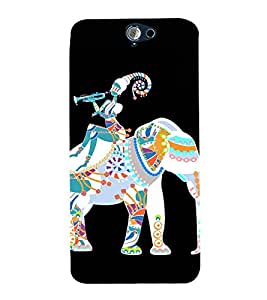 99Sublimation Ancient Elephant and Byugal 3D Hard Polycarbonate Back Case Cover for HTC One A9