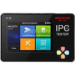 Nktech Nk-795 Caméra IP testeur CCTV security Monitor analogique CVBS Caméras DVR Kits Test Wifi 8,9 cm TFT écran tactile Audio Vidéo 4 K écran Installation automatique