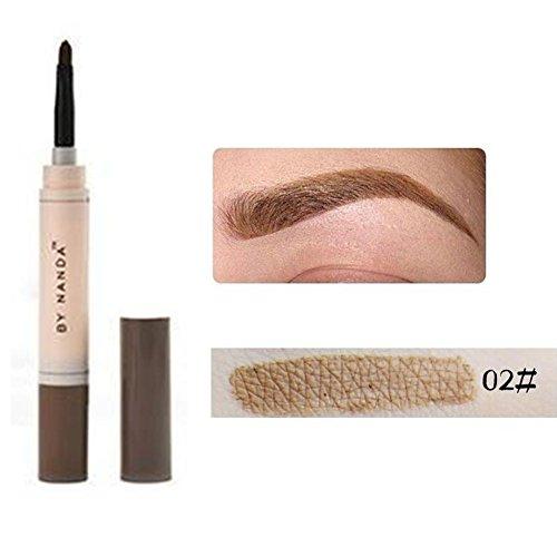 Henna Augenbrauenfarben-Set, langlebig, wasserfest, Stift mit cremiger Textur braun