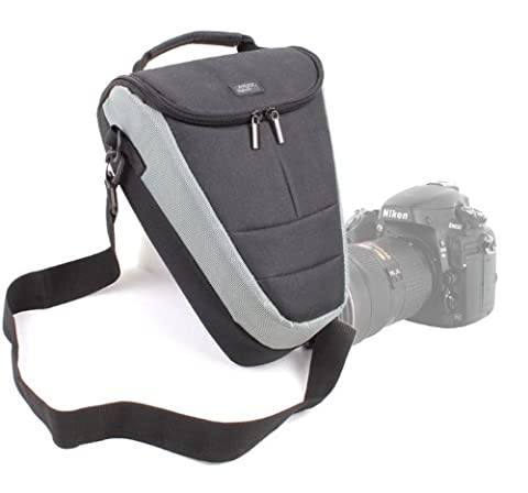 Etui housse de rangement large pour Nikon Coolpix P610 et L840, Canon PowerShot SX410 IS et Pentax XG-1 appareils photo Bridge et leurs accessoires - lanière de transport