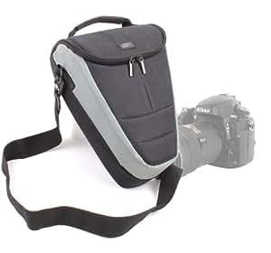 Etui housse de rangement large pour Nikon Coolpix P610 et L840, Canon PowerShot SX410 IS et Pentax XG-1 appareils photo Bridge et leurs accessoires - lanière de transport BONUS
