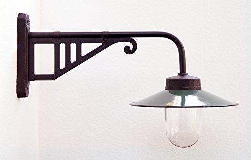Außenleuchte nach historischem Modell, Gartenlampe, Hoflampe, Außenlampe, Landhausstil - Modell Salzberg (dunkelgrün)