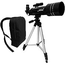 Orbinar Telescopio 400/70 Telescopio Terrestre Incl. Mochila De Viaje + Equipamiento Completo