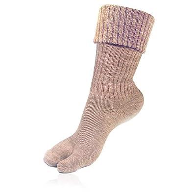 Bonjour Woolen Thumb Socks for Womens in Fawn Colors_BROGWL-17-THUMB (Fawn)