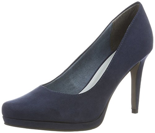 Tamaris Damen 22446 Pumps, Blau (Navy 805), 38 EU