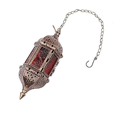 Candora® Maroc Verre fer Bougeoir rétro Bougeoir Décor Suspension Lustre