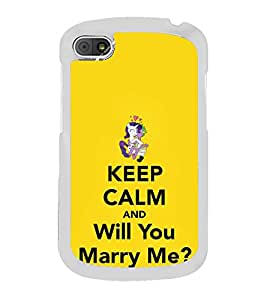 Fiobs Designer Back Case Cover for Blackberry Q10 (Marriage Proposal Wedding Bond Relation)