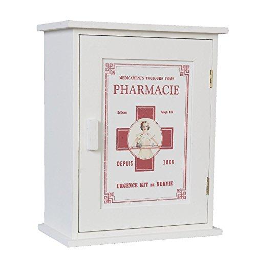 Livitat® Medizinschrank Landhaus Hausapotheke Shabby Weiß Landhaus Retro Vintage SP55 (31 x 24 cm)