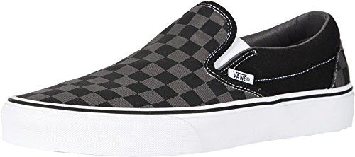 Vans Mens Classic Slip-on Schwarz/Grau Slip on 37 - Schwarz Vans Slip On Schuhe