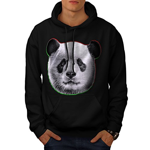 cracked-wood-panda-timber-style-men-new-black-l-hoodie-wellcoda