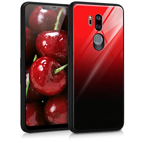 kwmobile LG G7 ThinQ/Fit/One Hülle - Hartglas Backcover Handy Case - Glas Hardcover für LG G7 ThinQ/Fit/One