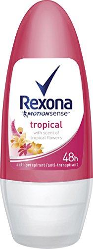 Rexona Tropical Deo Roll-On Women, 6er-Pack (6 x 50 ml)
