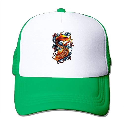 ool Artistic Fish Tattoos Unisex Adjustable Sports Trucker Cap ()