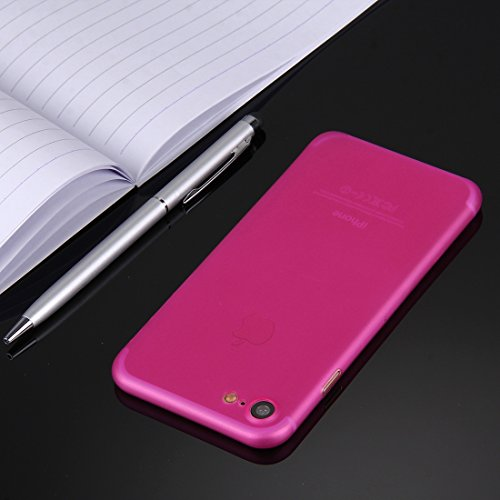 wortek iPhone 7 Hülle Case Schutzhülle (4,7 Zoll) - integrierter Schutz für Kamera Linse - Ultra dünn / Ultra Slim - Farbe Orange Transparent Pink