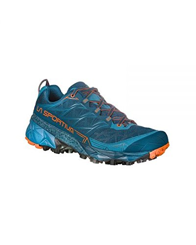 La Sportiva Akyra, Scarpe da Trail Running Uomo, Multicolore (Ocean/Flame 000), 45 EU